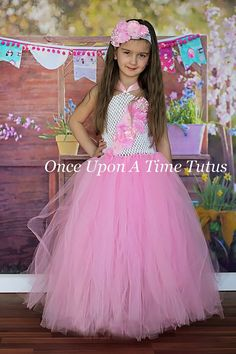 Hey, I found this really awesome Etsy listing at https://www.etsy.com/listing/223483471/pink-white-flower-girl-tutu-dress-spring