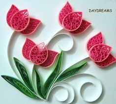 quilling patterns | DAYDREAMS: Quilled flowers