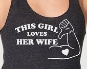 Gay T Shirt Lesbian This Girl Loves Her Girlfriend LGBT valentine's day shirt gay pride. $14.95, via Etsy.