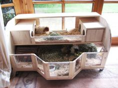 nice hutch idea... will possible make one of these in my future :-) but bigger!