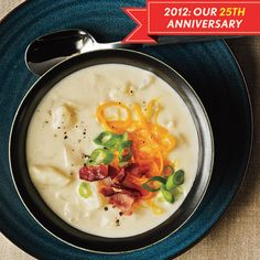 """I've made this Cooking Light loaded potato soup many times.  This does not taste like """"diet food""""!"""
