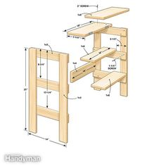 Ridiculously Simple Shop Stool Plans: Walk into your workshop with a few boards under one arm and walk out a few hours later with a sturdy, useful and attractive workshop stool. Read more: http://www.familyhandyman.com/workshop/ridiculously-simple-shop-stool-plans/view-all