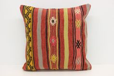 Traditional Kilim Pillow Cover 18 x 18 Pillow by kilimwarehouse