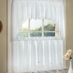 Merveilleux Battenburg Floral Swag Kitchen Curtains @ Kohls $15.99 17.99 Sale Price
