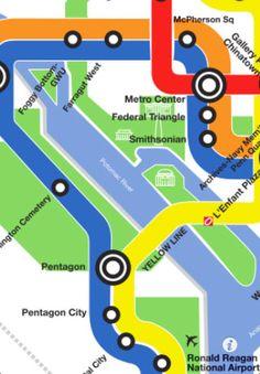 urban retro metro map