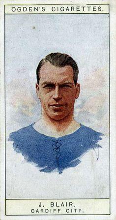 Jimmy Blair of Cardiff City in Best Football Players, Football Cards, Cardiff City Fc, Bristol Rovers, British Football, Everton Fc, Popular Sports, World History, Old School