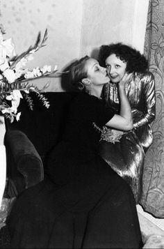 Marlene Dietrich and Edith Piaf, late 1940s