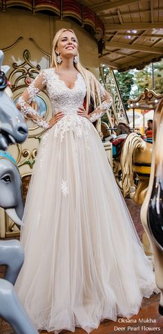 Oksana Mukha 2018 Wedding Dresses / http://www.deerpearlflowers.com/oksana-mukha-wedding-dresses-2018-2/