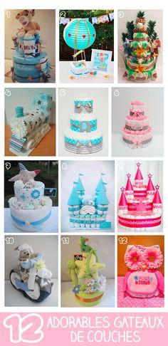 12 adorables gâteaux de couches                                                                                                                                                     Plus