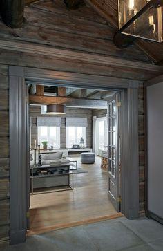 Diy Cabin, Rustic Cabin Decor, Cabin Homes, Log Homes, Log Home Decorating, Diy Home Decor, Estilo Country, Cabin Interiors, Contemporary Home Decor