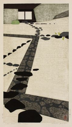 Tea House, 1956, Woodcut edition of 200 by Hodaka Yoshida (Japanese, 1926-1995)