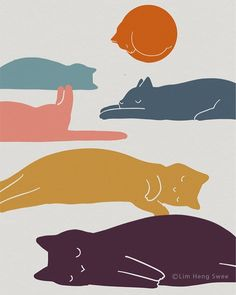 Poster prints I Create Minimal Landscape Illustrations For Art And Cat Lovers Pics) The Many Fac Art And Illustration, Landscape Illustration, Cat Illustrations, Posca Art, Poster Prints, Art Prints, Cat Drawing, Art World, Creative Art