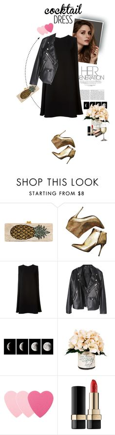 """""""Coctail dress"""" by yagmur ❤ liked on Polyvore featuring Edie Parker, Beauty Secrets, Alexander McQueen, McQ by Alexander McQueen, WALL, Creative Displays, Sephora Collection, Dolce&Gabbana and coctaildress"""