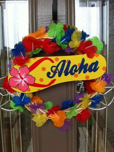 Hawaiin Wreath....need to make this for my party!!!!