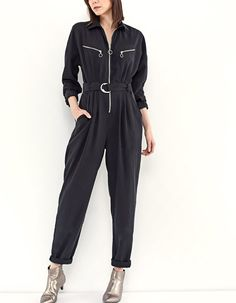 At Stradivarius you'll find 1 Long jumpsuit with zips for just 55.99 United Kingdom . Visit now to discover this and more Dresses.