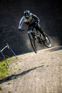 Downhill Mountain Biking in the air