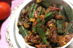 Okra Recipes, Veggie Recipes, Appetizer Recipes, Cooking Recipes, Dishes Recipes, Curry Recipes, Chicken Recipes, Appetizers, Meals