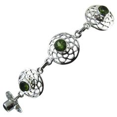 Silver, Peridot, Handmade Link Bracelet 7.75 inches, Green Gems, 12 grams ShalinIndia,http://www.amazon.com/dp/B005KH1B5G/ref=cm_sw_r_pi_dp_4ZIysb05M1SMHBYS