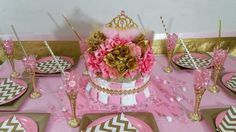 PINK & GOLD Princess Baby Shower by PlatinumDiaperCakes on Etsy