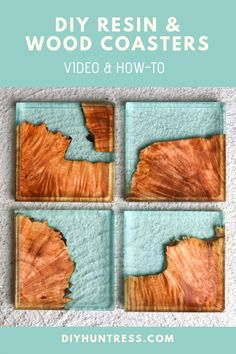 wood DIY Resin And Wood Coasters - DIY Huntress Learn how to make unique resin and wood coasters with plans and video from DIY Huntress. This is a great project for beginner epooxy resin users! Diy Resin Art, Diy Resin Crafts, Wood Crafts, Diy Resin Ideas, Diy Resin Casting, Stick Crafts, Recycled Crafts, Easy Crafts, Paper Crafts