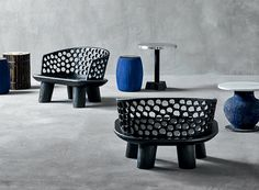 designboom interviews paola navone, artistic director of gervasoni, who discusses their new furniture pieces that were revealed at salone del mobile Recycled Furniture, New Furniture, Furniture Design, Outdoor Furniture, Outdoor Sofa, Modern Restaurant, Restaurant Interior Design, Paola Navone, Wooden Side Table