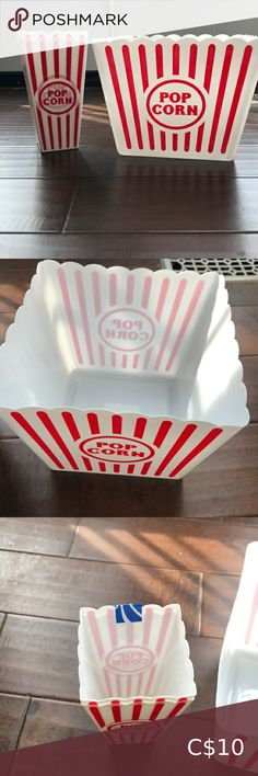 Popcorn tub Popcorn tub with 2 individual sleeves *never been used* Kitchen Popcorn Tub, Kitchen, Sleeves, Closet, Things To Sell, Cooking, Armoire, Kitchens, Closets
