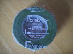 (2) 30 Yard Rolls Light Green Florist Floratape Flower Stem Wrap Corsage Wedding