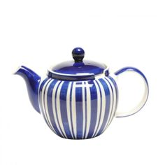 Tea Clipper Blue Stripe 6-Cup Chatsford Filter Teapot - LOOOOVE!