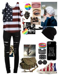 """""""I don't care anymore"""" by teal-lerker on Polyvore featuring Yves Saint Laurent, Converse, SCHA, Casetify, White House Black Market and PINTRILL"""