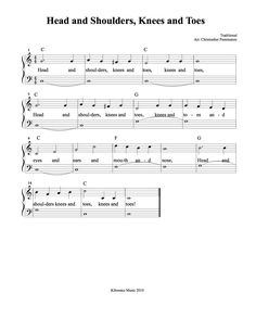 Head and Shoulders Sheet Music and Song from Kiboomu