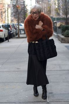 e81ff0500ac5 advanced style - Love the coat and Chanel Glasses <3 Iris Apfel, Skin