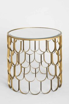Golden Art Deco Style Side Table 'ACCENT' / Home, Decor, Interior: http://rstyle.me/n/vaddqbcukx