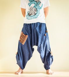 Harem Baggy Open Leg Unisex Pants Ethnic by AmazingThaiStore