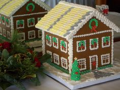 Christmas 2009 Gingerbread House Getting ready for the holidays for me always means GINGERBREAD HOUSES! I love making gingerbread houses a. Cool Gingerbread Houses, Gingerbread House Designs, Christmas Gingerbread House, Christmas Cookies, Royal Icing Decorations, House Decorations, Cookie House, How To Make Christmas Tree, Joy Of Cooking