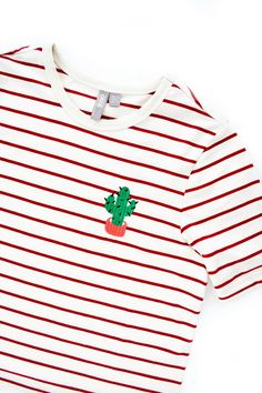 stripy cactus embroidery tshirt from asos