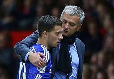 Jose Mourinho and Eden Hazard. Chelsea