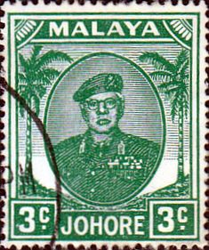 Malay State of Johore 1949 SG 135 Sultan Sir Ibrhim Fine Used SG 135 Scott 132 Condition Fine Used Only one post charge applied on multiple purchases