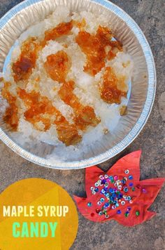 Maple Syrup Candy - Such a fun fall science activity + recipe to make with the kids! Science Activities For Kids, Halloween Activities, Steam Activities, Spring Activities, Easy Meals For Kids, Kids Meals, Candy Crafts, Diy Crafts, Holiday Crafts For Kids