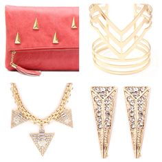 Very Triangular! In love with our Téa & Elle Studded Clutch!