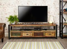 Urban Chic Open Widescreen Television Cabinet | Hallowood Furniture