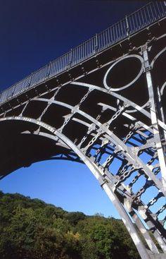 Detail of the Iron Bridge in Shropshire