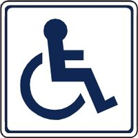 Disabled Toilet sign - wheelchair symbol