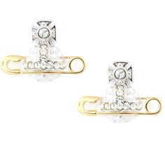 Vivienne Westwood Poly Earrings (375 SAR) ❤ liked on Polyvore featuring jewelry, earrings, earring jewelry, clear crystal earrings, clear jewelry, sparkle jewelry and vivienne westwood jewelry