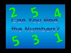 Practice with your child to see if they know how to recognize the numbers 1 - 5.