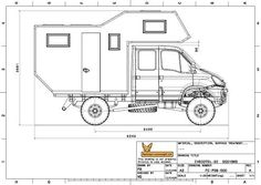 Dessins 2D Iveco 4x4, Iveco Daily 4x4, Motorhome, Muscle Truck, Camping Car, Camper Van, Cars And Motorcycles, Honda, Floor Plans