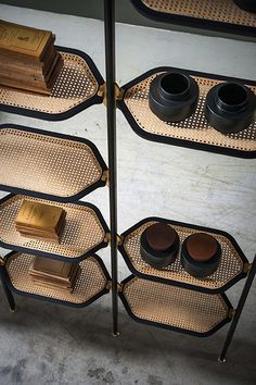 Home Decor Objects Ideas & Inspiration : 'Libelle' bookcase by Pietro Russo for Baxter Cane Furniture, Rattan Furniture, Furniture Design, Baxter Furniture, Furniture Movers, White Furniture, Repurposed Furniture, Pallet Furniture, Modern Furniture