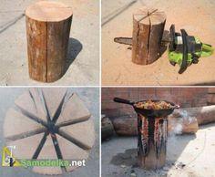 How to replace a tile, and a fire on a fishing trip or hunting - Piknikte ya da avda yemek pişirmek.