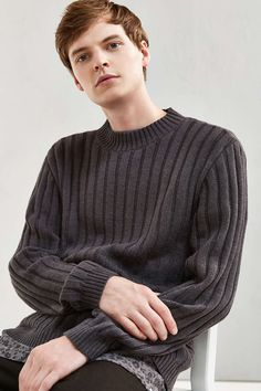 UO Rib Mock Neck Sweater - Urban Outfitters