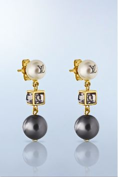Louis Vuitton pearl earrings