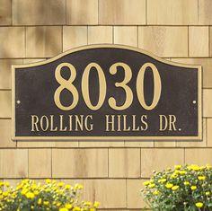 Rolling Hills Whitehall Address Plaque